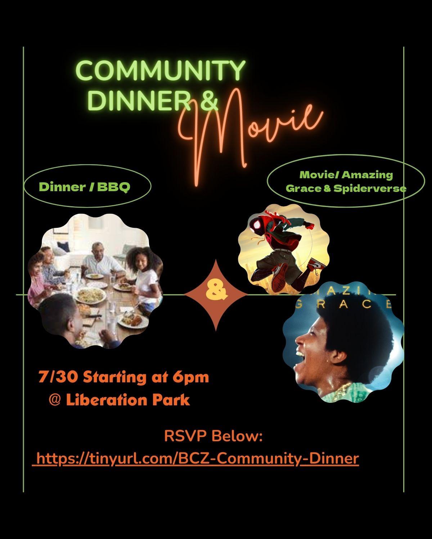 Community Dinner & Movie